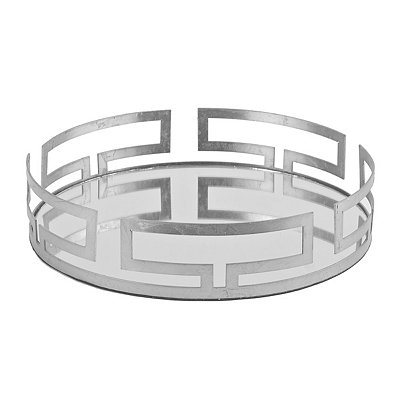 Cleo Silver Mirrored Vanity Tray