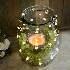 Clear Flower String Lights