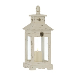 Simple White Wood Lantern
