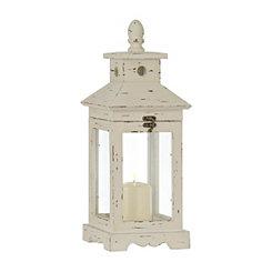 Simple White Wood Lantern