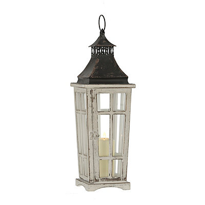 Tapered Gray and Bronze Lantern