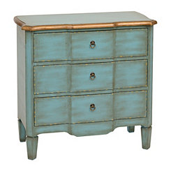 Antique Turquoise 3-Drawer Chest