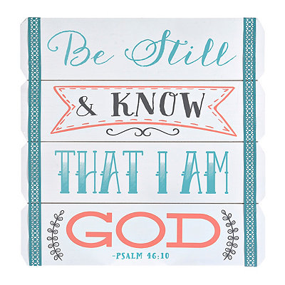 Be Still and Know Wood Plank Plaque