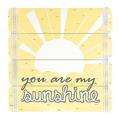 My Sunshine Wood Plank Plaque