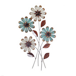 Spring Floral Bouquet Metal Plaque