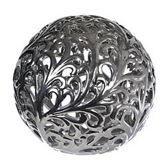 Metallic Scroll Silver Orb