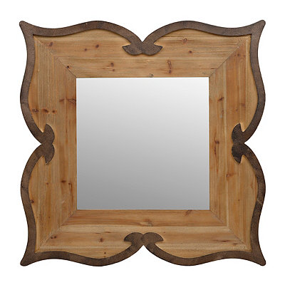 Rustic Scalloped Mirror