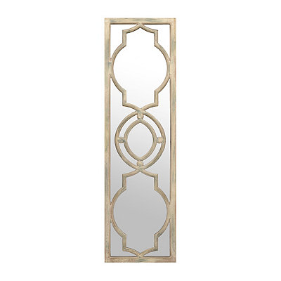 Madelyn Gray Quatrefoil Panel Mirror