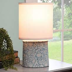 Blue and White Deco Ceramic Table Lamp