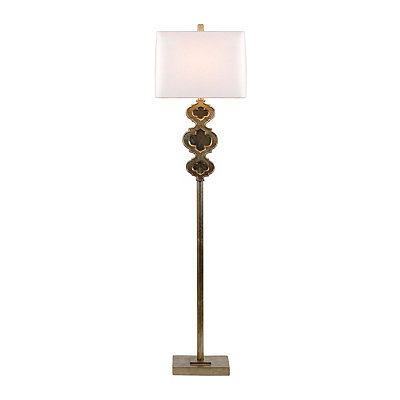 Gold Opulent Mirror Floor Lamp