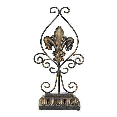 Bronze Scrolled Fleur-de-lis Finial