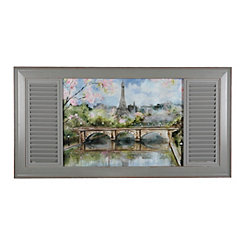 Parisian Window Framed Art Print