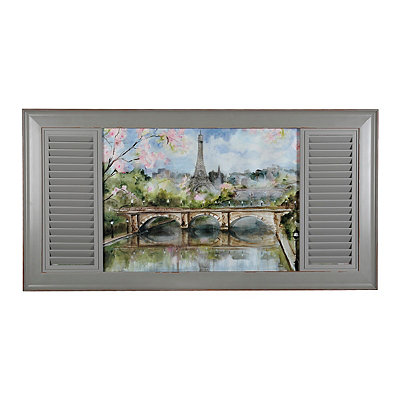 Parisian Window Framed Art Print