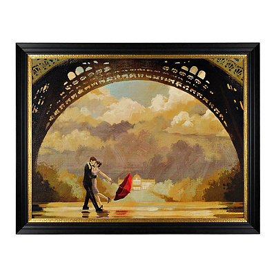Under the Eiffel Framed Art Print