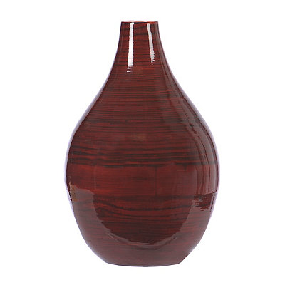 Red Grain Bamboo Vase