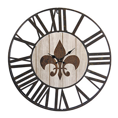 Fleur-de-lis Open Face Clock