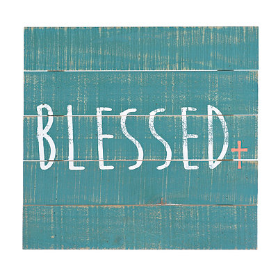Blessed Wood Plank Plaque