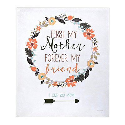 First My Mother Canvas Art Print