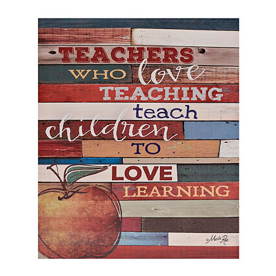 Teacher Sentiment Love Canvas Plaque