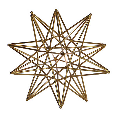 Orbit Star Gold Sculpture
