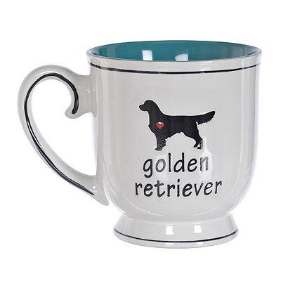 Golden Retriever Heart Mug
