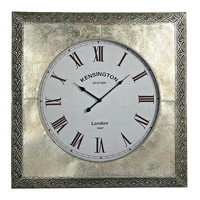 Jill Silver Bling Clock