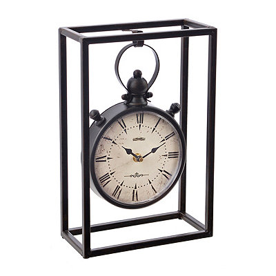 Bronze Hanging Cage Tabletop Clock