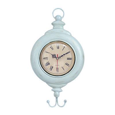 Blue Fish Hook Clock