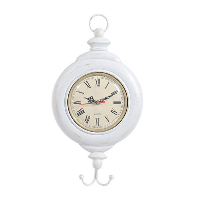 Cream Fish Hook Clock