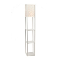 White Floral Shelf Floor Lamp