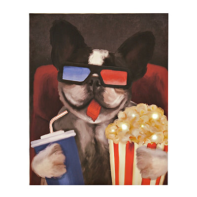 LED Cinema Pup Canvas Art Print