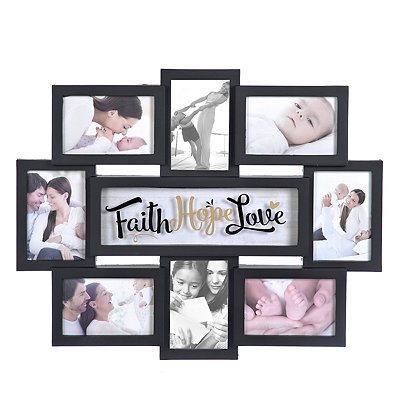 Faith Hope Love 8-Opening Collage Frame