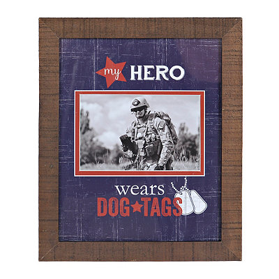 My Hero Wears Dog Tags Picture Frame, 4x6