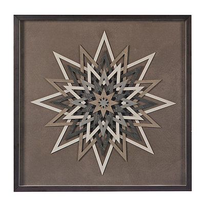 Wooden Starburst Shadowbox