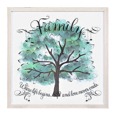 Watercolor Family Tree Shadowbox