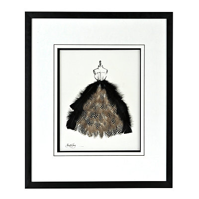 Feathered Dress Shadowbox