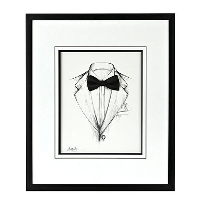 Black and White Tux Shadowbox