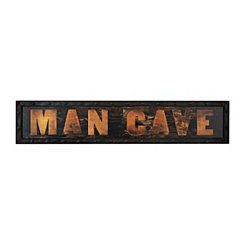 Man Cave Framed Art Print