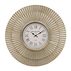 Evie Layered Metal Clock