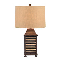 Brown Shutter Table Lamp