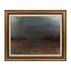 Metallic Hazy Landscape Framed Art Print