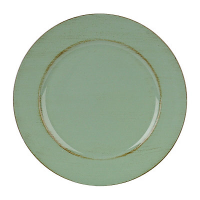 Distressed Green Round Ella Charger