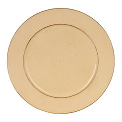 Distressed Tan Round Ella Charger
