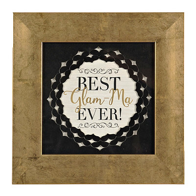 Best Glam-ma Ever Framed Art Print