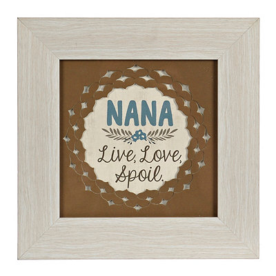 Live Love Spoil Nana Framed Art Print