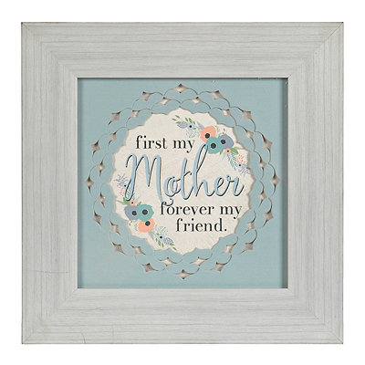 First My Mother Forever My Friend Framed Art Print