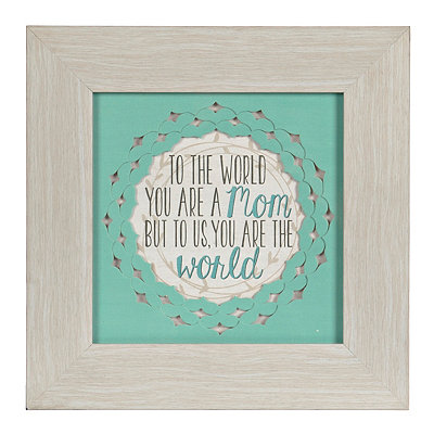 To Us You are the World Framed Art Print