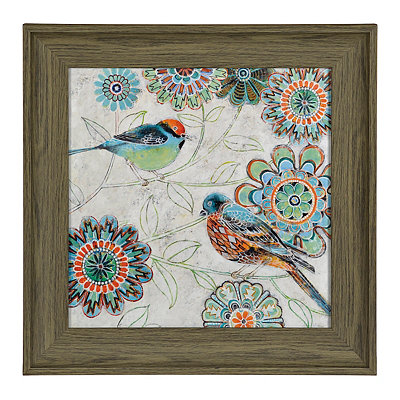 Kaleidoscope Birds I Framed Art Print