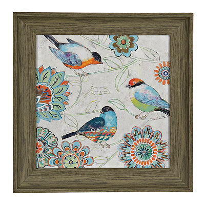 Kaleidoscope Birds II Framed Art Print