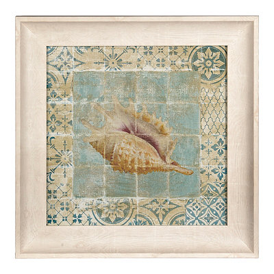 Shell Tiles I Framed Art Print